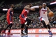 Dec 30, 2013; Auburn Hills, MI, USA; Detroit Pistons small forward Josh Smith (6) goes to the basket against Washington Wizards shooting guard Bradley Beal (3) during the second quarter at The Palace of Auburn Hills. Mandatory Credit: Tim Fuller-USA TODAY Sports
