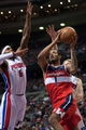 Dec 30, 2013; Auburn Hills, MI, USA; Washington Wizards small forward Trevor Ariza (1) goes to the basket against the Detroit Pistons during the fourth quarter at The Palace of Auburn Hills. Washington won 106-99. Mandatory Credit: Tim Fuller-USA TODAY Sports