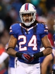 Dec 22, 2013; Orchard Park, NY, USA; Buffalo Bills cornerback Stephon Gilmore (24) during a game against the Miami Dolphins at Ralph Wilson Stadium. Buffalo beats Miami 19 to 0.  Mandatory Credit: Timothy T. Ludwig-USA TODAY Sports