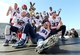Dec 31, 2013; Shreveport, LA, USA; Arizona Wildcats celebrate defeating the Boston College Eagles 42-19 at Independence Stadium. Mandatory Credit: Crystal LoGiudice-USA TODAY Sports