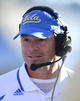 Dec 31, 2013; El Paso, TX, USA; UCLA Bruins head coach Jim Mora on the sidelines during the fourth quarter against the Virginia Tech Hokies in the 2013 Sun Bowl at Sun Bowl Stadium. UCLA defeated Virginia Tech 42-12. Mandatory Credit: Andrew Weber-USA TODAY Sports