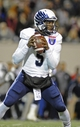 Dec 31, 2013; Memphis, TN, USA; Rice Owls quarterback Driphus Jackson (5) handles the ball against the Mississippi State Bulldogs during the second half at Liberty Bowl Memorial Stadium. Mississippi State Bulldogs beat Rice Owls 44 - 7. Mandatory Credit: Justin Ford-USA TODAY Sports
