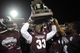 Dec 31, 2013; Memphis, TN, USA; Mississippi State Bulldogs players celebrate after beating Rice Owls at Liberty Bowl Memorial Stadium. Mississippi State Bulldogs beat Rice Owls 44 - 7. Mandatory Credit: Justin Ford-USA TODAY Sports