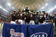 Dec 31, 2013; Atlanta, GA, USA; The Texas A&M Aggies celebrate defeating the Duke Blue Devils during the 2013 Chick-fil-A Bowl at the Georgia Dome. Texas A&M won 52-48. Mandatory Credit: Paul Abell-USA TODAY Sports