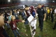 Dec 31, 2013; Atlanta, GA, USA; Texas A&M Aggies quarterback Johnny Manziel (2) greets a young fan after defeating the Duke Blue Devils during the 2013 Chick-fil-A Bowl at the Georgia Dome. Texas A&M won 52-48. Mandatory Credit: Paul Abell-USA TODAY Sports