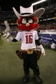 Dec 30, 2013; San Diego, CA, USA; The Texas Tech Red Raiders mascot on the field in the game with the Arizona Sun Devils at Qualcomm Stadium. Mandatory Credit: Michael C. Johnson-USA TODAY Sports
