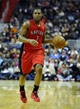 Jan 3, 2014; Washington, DC, USA; Toronto Raptors point guard Kyle Lowry (7) dribbles the ball against the Washington Wizards during the second half at Verizon Center. The Raptors defeated the Wizards 101 - 88. Mandatory Credit: Brad Mills-USA TODAY Sports