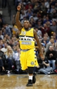Jan 3, 2014; Denver, CO, USA; Denver Nuggets point guard Nate Robinson (10) reacts to a play in the fourth quarter against the Memphis Grizzlies at the Pepsi Center. The Nuggets won 111-108. Mandatory Credit: Isaiah J. Downing-USA TODAY Sports