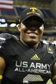 Jan 4, 2014; San Antonio, TX, USA; East defensive back Todd Kelly Jr. (6) after the U.S. Army All-American Bowl high school football game at the Alamodome. The West won 28-6. Mandatory Credit: Soobum Im-USA TODAY Sports