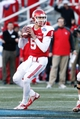 Jan 4, 2014; Birmingham, AL, USA; Houston Cougars quarterback John O'Korn (5) drops back to pass against the Vanderbilt Commodores during the 2014 Compass Bowl at Legion Field. The Commodores defeated the Cougars 41-24. Mandatory Credit: Marvin Gentry-USA TODAY Sports