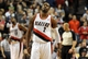 Jan. 04, 2014; Portland, OR, USA; Portland Trail Blazers shooting guard Wesley Matthews (2) reacts after missing a free throw late in the fourth quarter of the game against the Philadelphia 76ers at the Moda Center. The Sixers won the game 101-99. Mandatory Credit: Steve Dykes-USA TODAY Sports