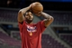 Jan 5, 2014; Auburn Hills, MI, USA; Detroit Pistons small forward Josh Smith warms up prior to the game against the Memphis Grizzlies at The Palace of Auburn Hills. Mandatory Credit: Tim Fuller-USA TODAY Sports