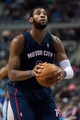 Jan 5, 2014; Auburn Hills, MI, USA; Detroit Pistons center Andre Drummond (0) shoots the ball during the second quarter against the Memphis Grizzlies at The Palace of Auburn Hills. Mandatory Credit: Tim Fuller-USA TODAY Sports