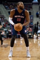 Jan 5, 2014; Auburn Hills, MI, USA; Detroit Pistons power forward Greg Monroe (10) prepares to shoot the ball during the first quarter against the Memphis Grizzlies at The Palace of Auburn Hills. Mandatory Credit: Tim Fuller-USA TODAY Sports