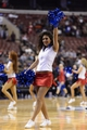 Jan 6, 2014; Philadelphia, PA, USA; A Philadelphia 76ers dream team dancer performs during the fourth quarter against the Minnesota Timberwolves at the Wells Fargo Center. The Timberwolves defeated the Sixers 126-95. Mandatory Credit: Howard Smith-USA TODAY Sports