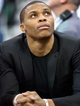 Jan 7, 2014; Salt Lake City, UT, USA; Oklahoma City Thunder point guard Russell Westbrook (0) during the first half against the Utah Jazz at EnergySolutions Arena. Mandatory Credit: Russ Isabella-USA TODAY Sports