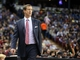 Jan 7, 2014; Sacramento, CA, USA; Portland Trail Blazers head coach Terry Stotts on the sideline against the Sacramento Kings during the second quarter at Sleep Train Arena. Mandatory Credit: Kelley L Cox-USA TODAY Sports