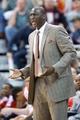 Jan 7, 2014; Salt Lake City, UT, USA; Utah Jazz head coach Tyrone Corbin reacts during the second half against the Oklahoma City Thunder at EnergySolutions Arena. The Jazz won 112-101. Mandatory Credit: Russ Isabella-USA TODAY Sports