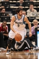 Jan 10, 2014; Minneapolis, MN, USA; Minnesota Timberwolves point guard Ricky Rubio (9) dribbles in the first quarter against the Charlotte Bobcats at Target Center. Mandatory Credit: Brad Rempel-USA TODAY Sports