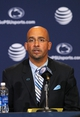 Jan 11, 2014; State College, PA, USA; James Franklin is announced as the Penn State Nittany Lions new head coach during a press conference at Beaver Stadium. Mandatory Credit: Matthew O'Haren-USA TODAY Sports