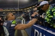 Jan 11, 2014; Seattle, WA, USA; Seattle Seahawks wide receiver Doug Baldwin (89) celebrates with fans after the 2013 NFC divisional playoff football game against the New Orleans Saints at CenturyLink Field. The Seahawks defeated the Saints 23-15. Mandatory Credit: Kirby Lee-USA TODAY Sports