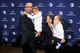 Jan 11, 2014; State College, PA, USA; James Franklin (left) with daughter Shola Franklin (second from left) and wife Fumi Franklin (second from right) with daughter Addison Franklin (right) pose for a photo as James Franklin is announced as the Penn State Nittany Lions new head coach during a press conference at Beaver Stadium. Mandatory Credit: Matthew O'Haren-USA TODAY Sports