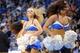 Jan 11, 2014; Oklahoma City, OK, USA; Members of the Oklahoma City Thunder dance team entertain during a break in action against the Milwaukee Bucks at Chesapeake Energy Arena. Mandatory Credit: Mark D. Smith-USA TODAY Sports