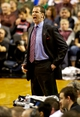 Jan 11, 2014; Portland, OR, USA; Portland Trail Blazers head coach Terry Stotts reacts in the second quarter against the Boston Celtics at the Moda Center. Mandatory Credit: Craig Mitchelldyer-USA TODAY Sports