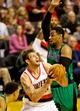 Jan 11, 2014; Portland, OR, USA; Portland Trail Blazers center Joel Freeland (19) looks to shoot against the Boston Celtics at the Moda Center. Mandatory Credit: Craig Mitchelldyer-USA TODAY Sports