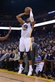 November 20, 2013; Oakland, CA, USA; Golden State Warriors small forward Andre Iguodala (9) shoots the basketball during overtime against the Memphis Grizzlies at Oracle Arena. The Grizzlies defeated the Warriors 88-81 in overtime. Mandatory Credit: Kyle Terada-USA TODAY Sports