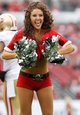 Dec 15, 2013; Tampa, FL, USA; Tampa Bay Buccaneers cheerleader against the San Francisco 49ers during the second half at Raymond James Stadium. San Francisco 49ers defeated the Tampa Bay Buccaneers 33-14. Mandatory Credit: Kim Klement-USA TODAY Sports
