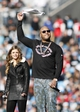 Jan 12, 2014; Charlotte, NC, USA; Recording artist Flo Rida performs with The Voice contestant Jacquie Lee (left) during halftime of the 2013 NFC divisional playoff football game at Bank of America Stadium. Mandatory Credit: Jeremy Brevard-USA TODAY Sports