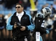 Jan 12, 2014; Charlotte, NC, USA; Carolina Panthers head coach Ron Rivera reacts during the fourth quarter of the 2013 NFC divisional playoff football game against the San Francisco 49ers at Bank of America Stadium. San Francisco won 23-10. Mandatory Credit: Sam Sharpe-USA TODAY Sports