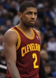 Dec 13, 2013; Orlando, FL, USA; Cleveland Cavaliers point guard Kyrie Irving (2) against the Orlando Magic during the second half at Amway Center. Cleveland Cavaliers defeated the Orlando Magic 109-100. Mandatory Credit: Kim Klement-USA TODAY Sports