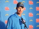 Dec 22, 2013; San Diego, CA, USA; San Diego Chargers coach Mike McCoy at press conference after the game against the Oakland Raiders at Qualcomm Stadium. The Chargers won 26-13.Mandatory Credit: Kirby Lee-USA TODAY Sports