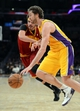 Jan 14, 2014; Los Angeles, CA, USA; Cleveland Cavaliers center Anderson Varejao (17) guards Los Angeles Lakers center Pau Gasol (16) in the second half of the game at Staples Center. Cleveland Cavaliers won 120-118. Mandatory Credit: Jayne Kamin-Oncea-USA TODAY Sports