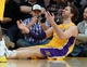 Jan 14, 2014; Los Angeles, CA, USA; Los Angeles Lakers center Pau Gasol (16) looks for a foul call in the second half of the game against the Cleveland Cavaliers at Staples Center. Cleveland Cavaliers won 120-118. Mandatory Credit: Jayne Kamin-Oncea-USA TODAY Sports