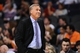 Jan 15, 2014; Phoenix, AZ, USA; Los Angeles Lakers head coach Mike D'Antoni reacts on the sidelines in the game against the Phoenix Suns at US Airways Center. The Suns won 121-114. Mandatory Credit: Jennifer Stewart-USA TODAY Sports