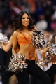 Jan 15, 2014; Phoenix, AZ, USA; Phoenix Suns cheerleader performs in the game against the Los Angeles Lakers at US Airways Center. The Suns won 121-114. Mandatory Credit: Jennifer Stewart-USA TODAY Sports