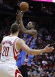 Jan 16, 2014; Houston, TX, USA; Oklahoma City Thunder small forward Kevin Durant (35) shoots the ball during the fourth quarter against the Houston Rockets at Toyota Center. Mandatory Credit: Andrew Richardson-USA TODAY Sports