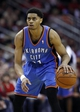 Jan 16, 2014; Houston, TX, USA; Oklahoma City Thunder shooting guard Jeremy Lamb (11) with the ball during the fourth quarter against the Houston Rockets at Toyota Center. Mandatory Credit: Andrew Richardson-USA TODAY Sports