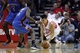 Jan 16, 2014; Houston, TX, USA; Houston Rockets point guard Jeremy Lin (7) is fouled by Oklahoma City Thunder point guard Reggie Jackson (15) during the fourth quarter at Toyota Center. Mandatory Credit: Andrew Richardson-USA TODAY Sports