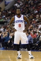 Jan 15, 2014; Philadelphia, PA, USA; Philadelphia 76ers guard Tony Wroten (8) during the third quarter against the Charlotte Bobcats at the Wells Fargo Center. The Sixers defeated the Bobcats 95-92. Mandatory Credit: Howard Smith-USA TODAY Sports