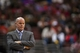 Jan 15, 2014; Philadelphia, PA, USA; Charlotte Bobcats head coach Steve Clifford watches the game during the third quarter against the Philadelphia 76ers at the Wells Fargo Center. The Sixers defeated the Bobcats 95-92. Mandatory Credit: Howard Smith-USA TODAY Sports
