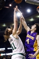 Jan 17, 2014; Boston, MA, USA; Los Angeles Lakers power forward Ryan Kelly (4) defends against Boston Celtics center Kelly Olynyk (41) in the second half at TD Garden. The Los Angeles Lakers defeated the Celtics 107-104. Mandatory Credit: David Butler II-USA TODAY Sports