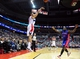 Jan 18, 2014; Washington, DC, USA; Washington Wizards guard Garrett Temple (17) shoots the ball over Detroit Pistons guard Will Bynum (12) at Verizon Center. Mandatory Credit: Evan Habeeb-USA TODAY Sports