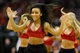 Jan 18, 2014; Houston, TX, USA; A Houston Rockets cheerleader performs during the second half against the Milwaukee Bucks at Toyota Center. The Rockets won 114-104. Mandatory Credit: Soobum Im-USA TODAY Sports