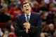 Jan 18, 2014; Houston, TX, USA; Houston Rockets head coach Kevin McHale gives direction to his team during the second half against the Milwaukee Bucks at Toyota Center. The Rockets won 114-104. Mandatory Credit: Soobum Im-USA TODAY Sports