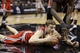 Jan 19, 2014; San Antonio, TX, USA; Milwaukee Bucks guard Luke Ridnour (13) dives after a loose ball during the first half against the San Antonio Spurs at AT&T Center. Mandatory Credit: Soobum Im-USA TODAY Sports