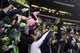 Jan 19, 2014; Seattle, WA, USA; Seattle Seahawks cornerback Richard Sherman (25) celebrates with fans in the stands after the 2013 NFC Championship football game against the San Francisco 49ers at CenturyLink Field. Mandatory Credit: Joe Nicholson-USA TODAY Sports